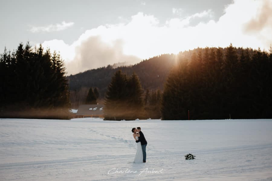 photographe mariage neige montagne hiver savoie chambery