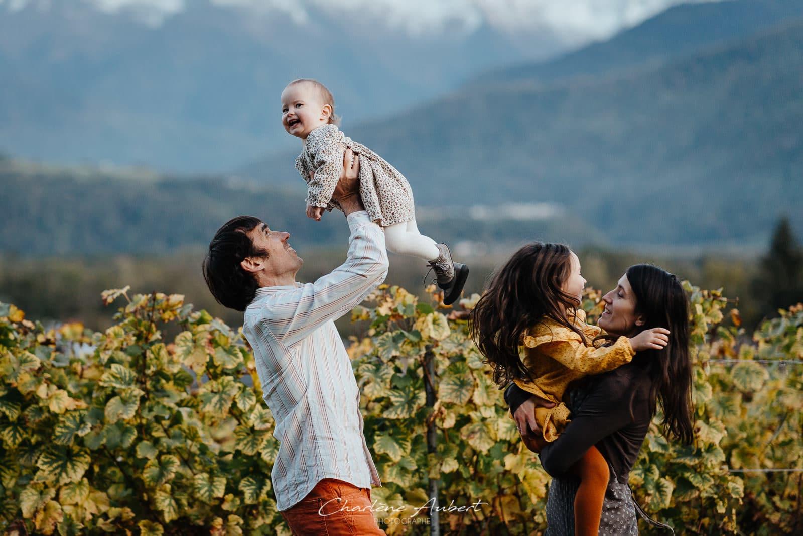 photographe famille lifestyle exterieur vignes