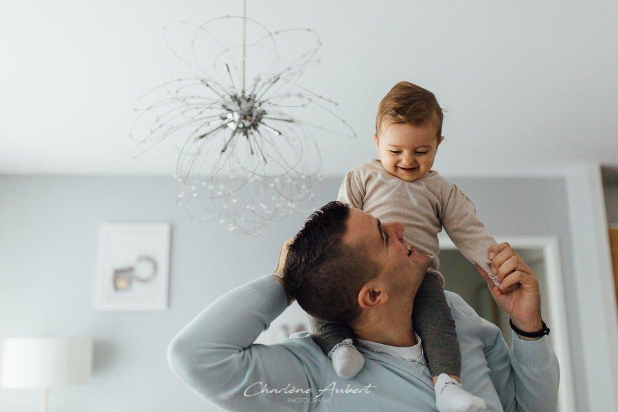 Séance photo bébé 1 an à domicile chambéry savoie