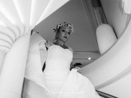 reportage de mariage complet, préparatifs et robe de la mariée à aix-les-bains