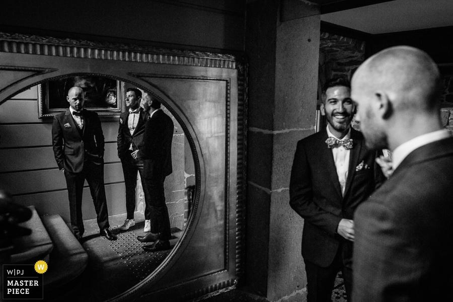 photographe mariage chateau de servolex preparatif marié chambéry savoie